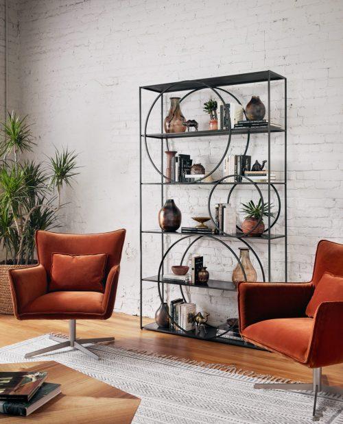Acob Swivel Chair Soft Velvet Sienna