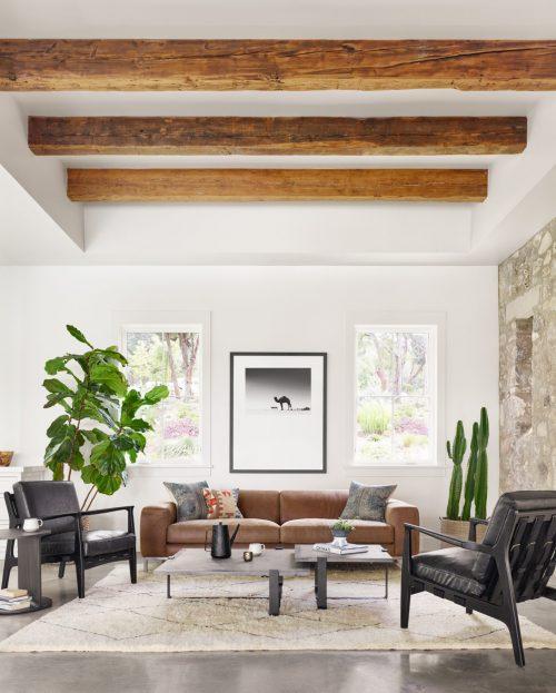 Benedict Leather Sofa 96 Umber Grey
