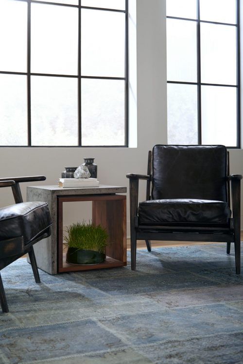 Brooks Lounge Chair Rialto Ebony 2