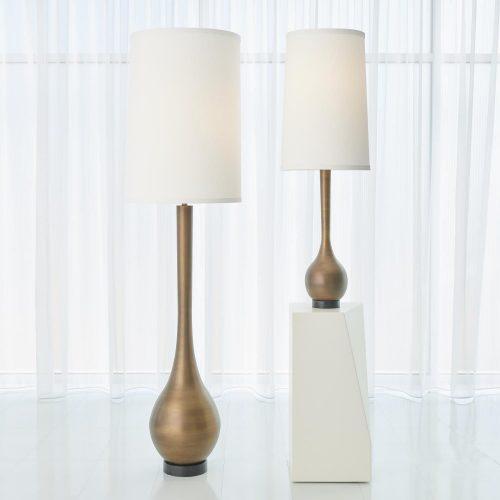 Bulb Floor Lamp-Light Bronze