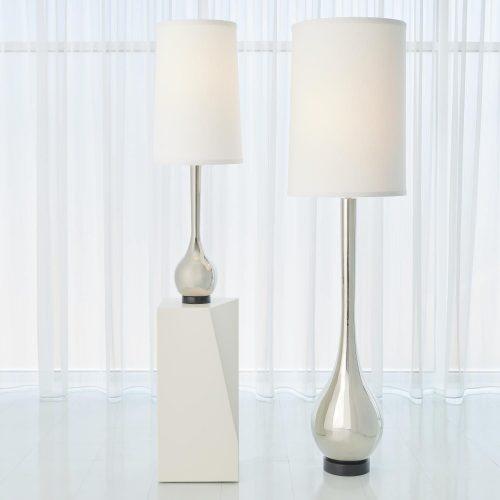 Bulb Floor Lamp-Nickel