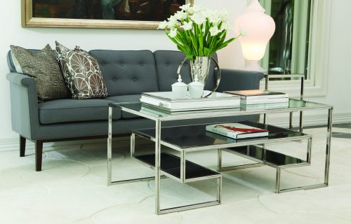 One-Up Cocktail Table-Stainless Steel Finish